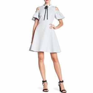 Ted Baker Araye Cold Shoulder Collar Skater Dress